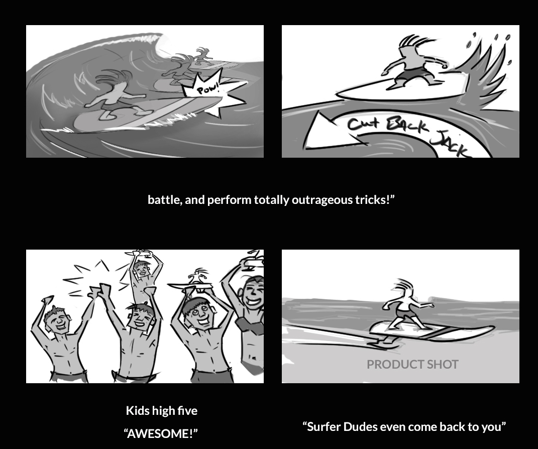 Surfer dudes story board
